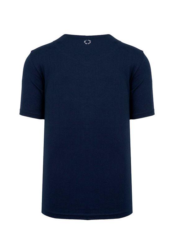 Unfair Athletics Herren T-Shirt CLASSIC LABEL UNFR18-071 Blau Navy – Bild 1