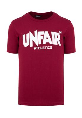Unfair Athletics Herren T-Shirt CLASSIC LABEL UNFR18-072 Rot Burgundy – Bild 0