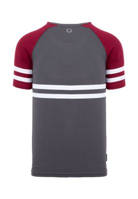 Unfair Athletics Herren T-Shirt DMWU UNFR18-077 Grau Charcoal Burgundy – Bild 1