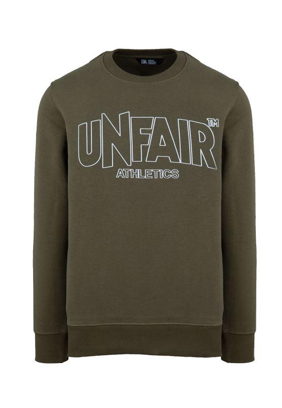 Unfair Athletics Herren Sweatshirt CLASSIC LABEL OUTLINES UNFR18-092 Khaki Olive – Bild 0
