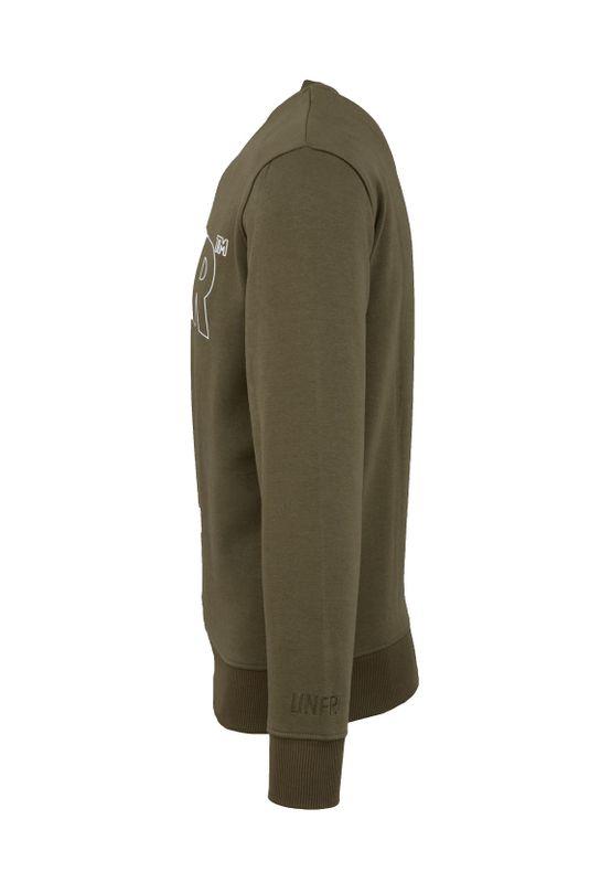 Unfair Athletics Herren Sweatshirt CLASSIC LABEL OUTLINES UNFR18-092 Khaki Olive – Bild 1