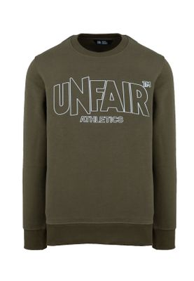 Unfair Athletics Herren Sweatshirt CLASSIC LABEL OUTLINES UNFR18-092 Khaki Olive – Bild 0
