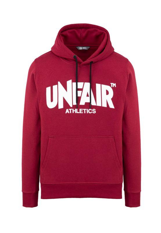 Unfair Athletics Herren Sweater CLASSIC LABEL HOODIE UNFR18-074 Rot Burgundy – Bild 0