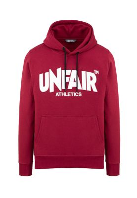 Unfair Athletics Herren Sweater CLASSIC LABEL HOODIE UNFR18-074 Rot Burgundy – Bild 0