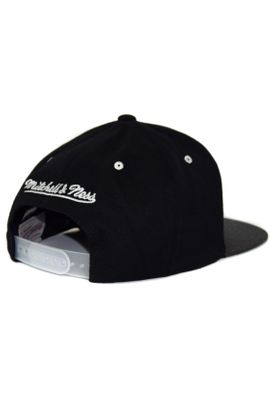 Mitchell & Ness Cap HUD021 GOLDEN STATE WARRIORS Schwarz Grau – Bild 1