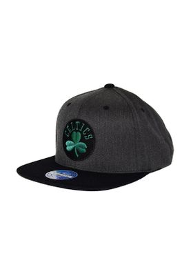 Mitchell & Ness Cap HUD020 BOSTON CELTICS Grau Schwarz