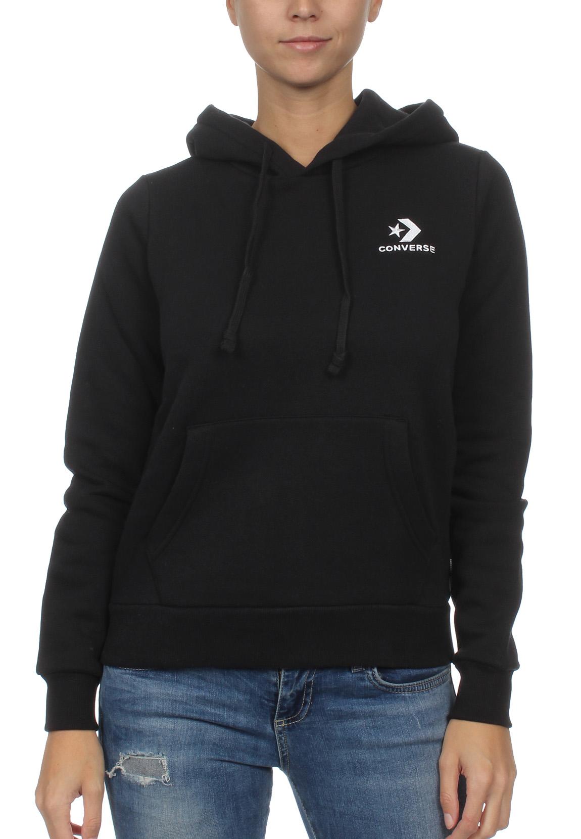 7549428602b82 Details about Converse Sweater Ladies Star Chevron Po Hoodie 10008819 Black  001