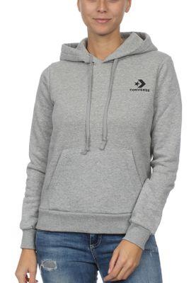 Converse Sweater Damen STAR CHEVRON PO HOODIE 10008819 Grau 035 – Bild 0