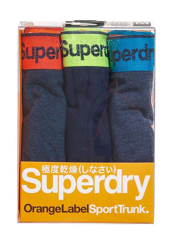 Superdry Dreierpack Boxershorts Herren SPORT TRUNK TRIPLE PACK Indigoblumarl/richstnvy/nvymrl Ansicht
