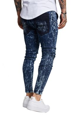 SikSilk Herren Jeans DROPCROTCH DENIM SS-13496 Blau Blue – Bild 2