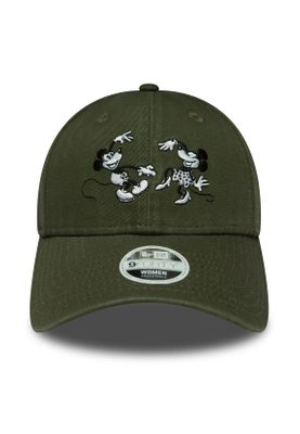 New Era Disney Trucker 9Forty Damen Adjustable Cap MINNIE UND MICKEY MOUSE Khaki – Bild 1