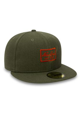 c2975782878 New Era Heather 59Fifty Cap NE SCRIPT Khaki Accessoires Caps   Mützen