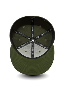 New Era Heather 59Fifty Cap NE SCRIPT Khaki – Bild 2