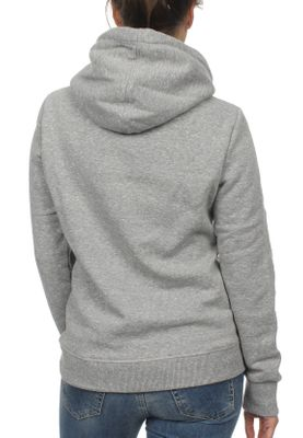 Superdry Sweater Damen VNTGE LOGO SEQUIN ENTRY HOOD Grey Heathered – Bild 1