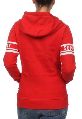 Superdry Zipper Damen 1954 HERITAGE ENTRY ZIP HOOD Tailgate Red – Bild 1