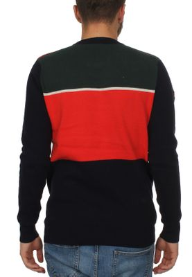 Superdry Pullover Herren MEGA LOGO CREW DkNvy/MoorsideOrnge/HighlndGrn – Bild 2