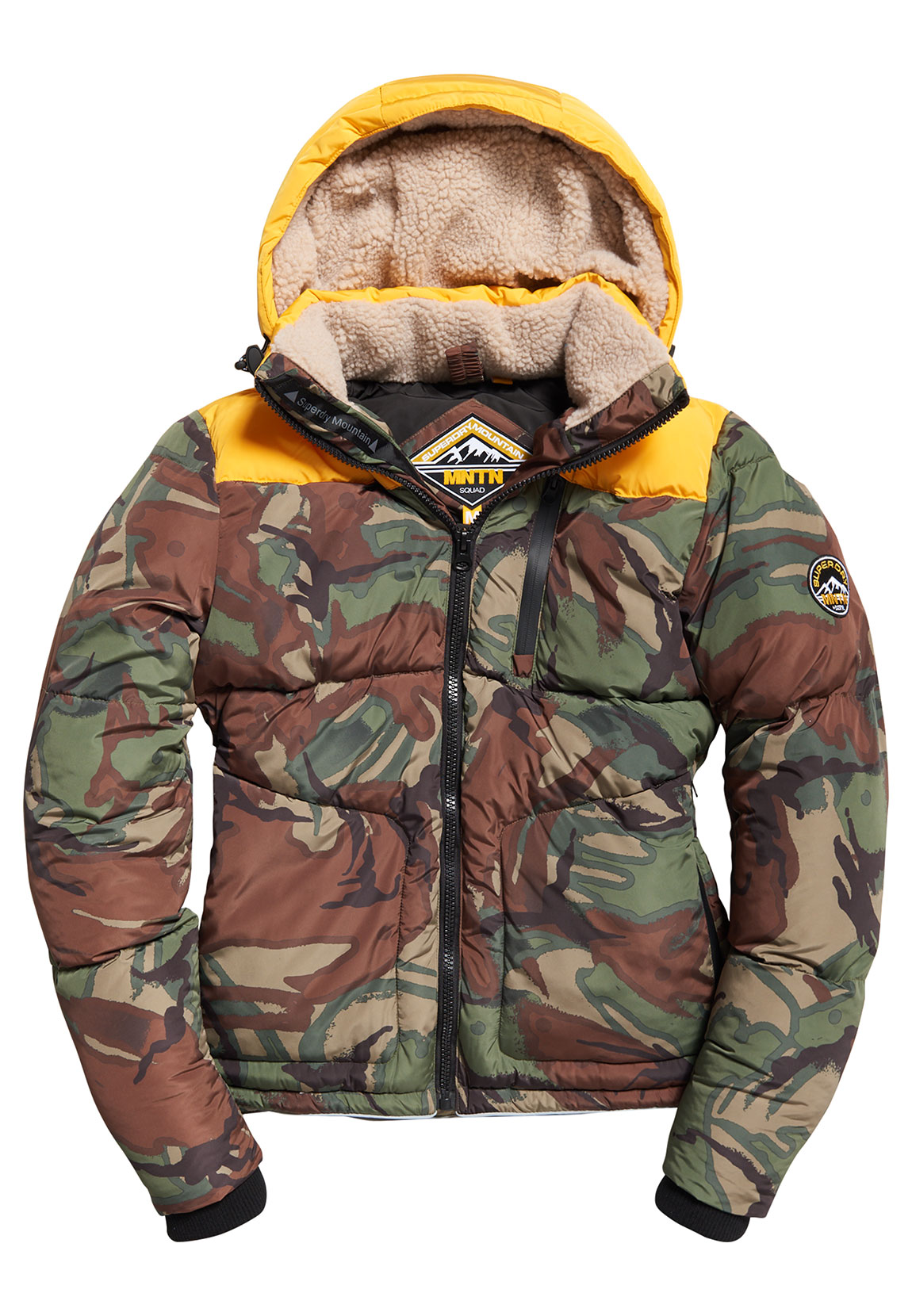 official photos 04abf e1c3a Superdry Jacke Herren EXPEDITION COAT Bold Yellow