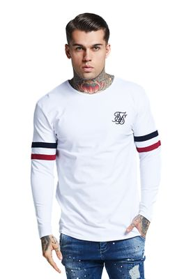 SikSilk Herren Longsleeve TOURNAMENT TEE SS-13570 Weiss White – Bild 0
