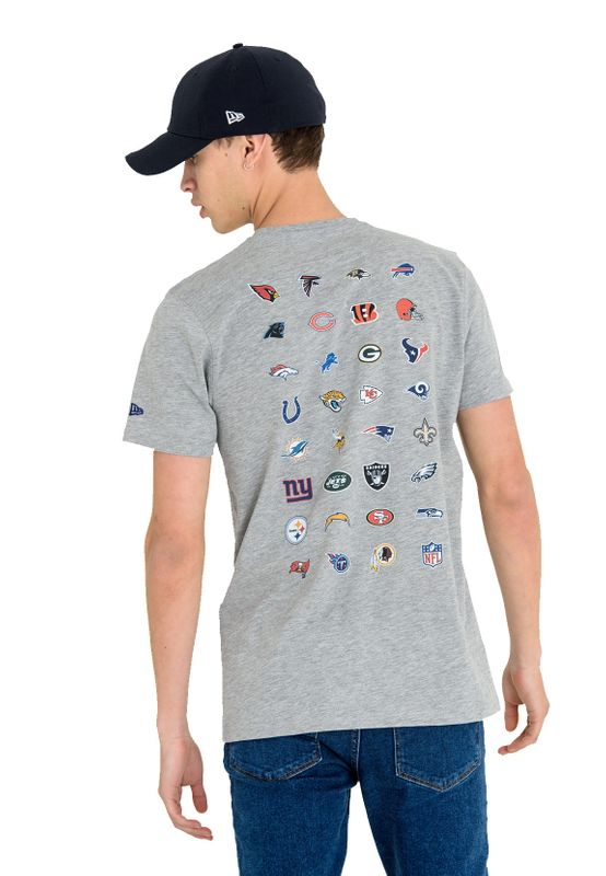 New Era T-Shirt Herren NFL TEAM LOGO TEE Grau  – Bild 2