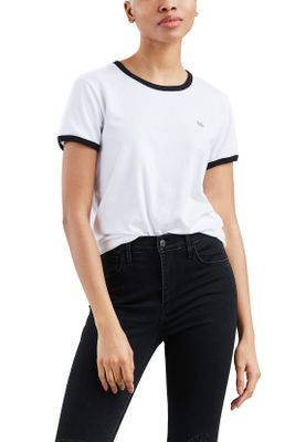 Levis T-Shirt Damen PERFECT RINGER TEE 39096-0002 Weiss – Bild 1