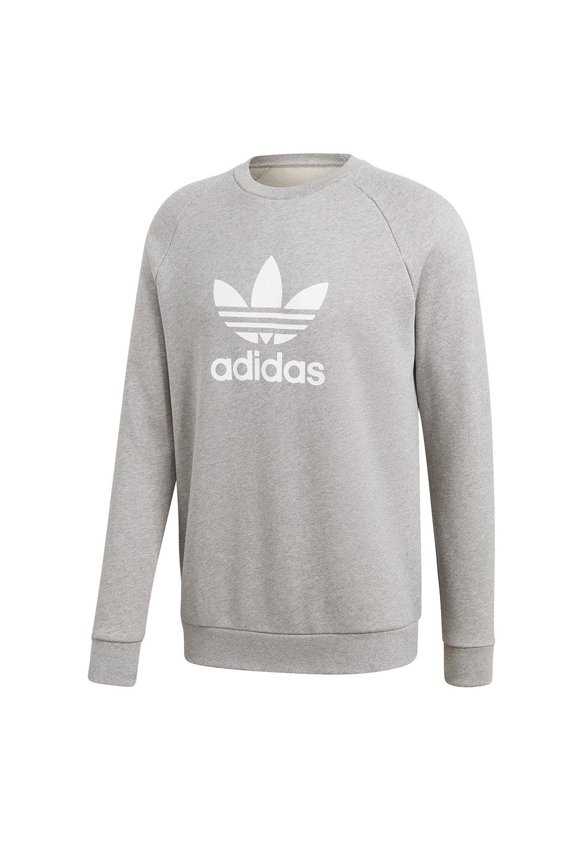 Details zu Adidas Originals Sweatshirt Herren TREFOIL CREW CY4573 Grau