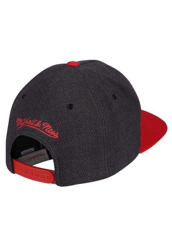 Mitchell & Ness Cap INTL256 CHICAGO BULLS Grau Rot – Bild 1