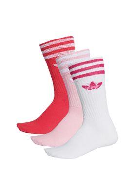 Adidas Originals Socken Dreierpack SOLID CREW SOCK DY0383 Weiß Pink Rosa