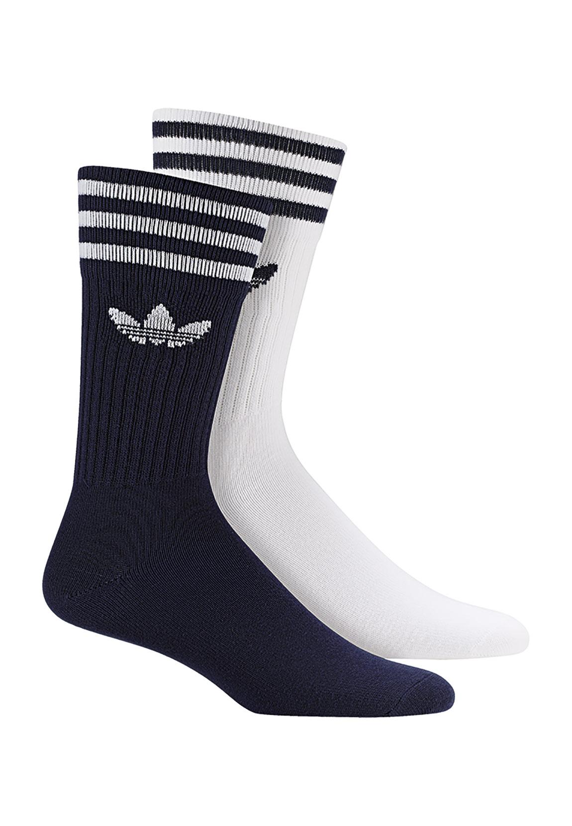 top brands free delivery buy sale Details zu Adidas Originals Socken Doppelpack SOLID CREW 2PP DW3936 Weiß  Blau