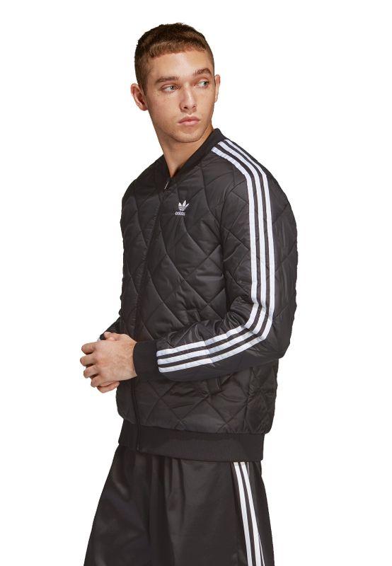 Adidas Originals Jacke Herren SST QUILTED DV2302 Schwarz – Bild 3