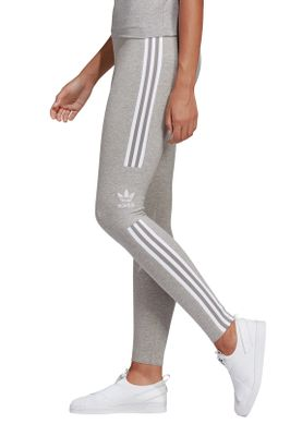 Adidas Originals Leggings Damen TREFOIL TIGHT DV2641 Grau – Bild 2