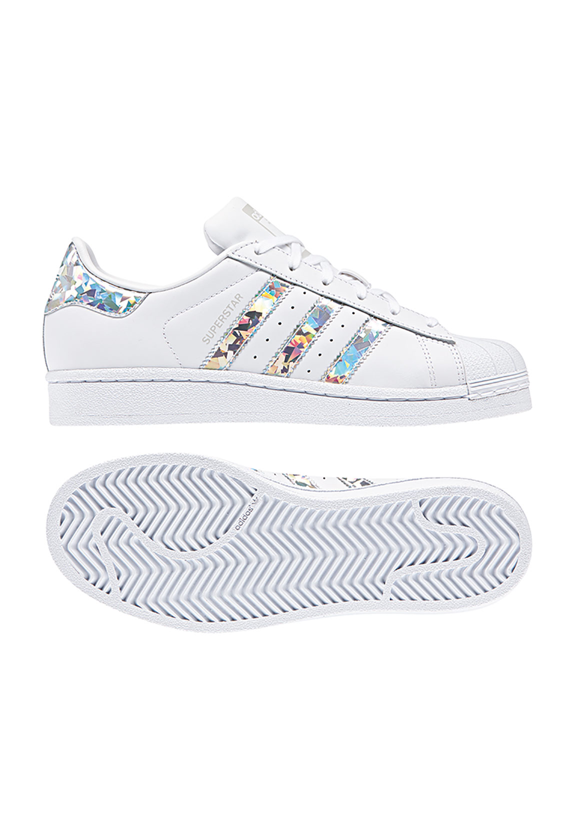 Adidas Originals Sneaker Damen SUPERSTAR F33889 Weiss Silber