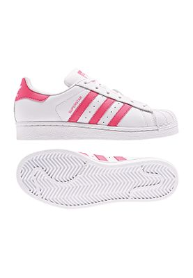 Adidas Originals Sneaker Damen SUPERSTAR CG6608 Weiss Pink – Bild 0
