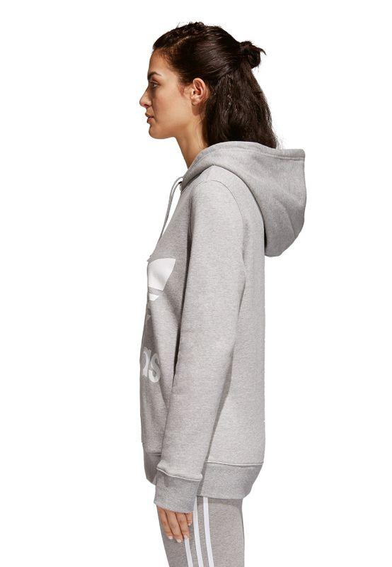 Adidas Originals Sweater Damen TREFOIL HOODIE CY6665 Grau – Bild 2