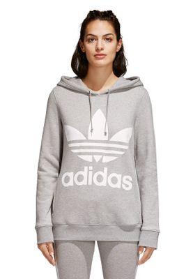 Adidas Originals Sweater Damen TREFOIL HOODIE CY6665 Grau – Bild 1