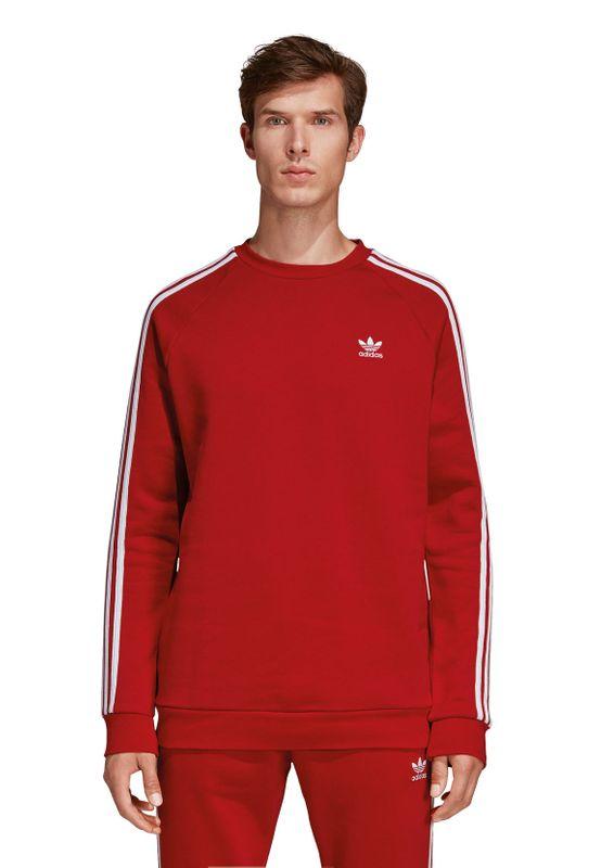 Adidas Originals Crewneck Herren 3-STRIPES CREW DV1553 Rot – Bild 1