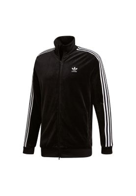 Adidas Originals Sweatjacke Herren COZY TRACK TOP DX3626 Schwarz – Bild 0