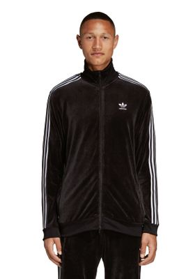 Adidas Originals Sweatjacke Herren COZY TRACK TOP DX3626 Schwarz – Bild 1