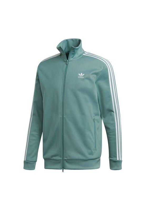 Adidas Originals Sweatjacke Herren BECKENBAUER TT DV1523 Türkis – Bild 0