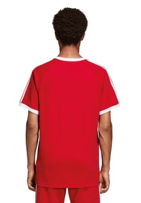 Adidas Originals T-Shirt Herren 3-STRIPES TEE DV1565 Rot – Bild 3
