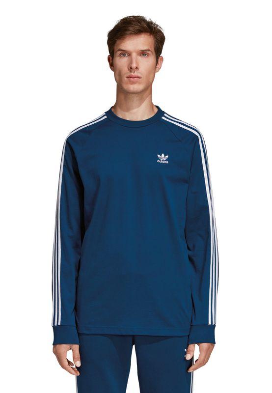Adidas Originals Longsleeve Herren 3-STRIPES TEE DV1559 Blau – Bild 1
