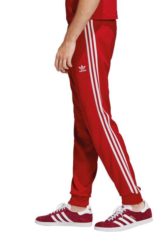 Adidas Originals Jogginghose Herren SST TP DV1534 Rot – Bild 2