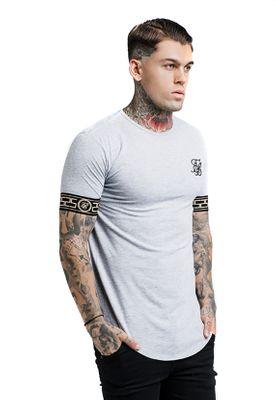 SikSilk Herren T-Shirt CARTEL Lounge Tee SS-14069 Grau Grey – Bild 1
