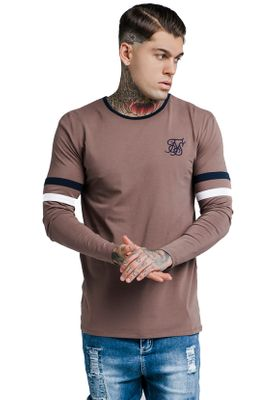 SikSilk Herren Longsleeve TOURNAMENT TEE SS-13826 Braun Rust – Bild 0