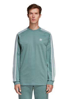 Adidas Originals Longsleeve Herren 3-STRIPES LS T DV1557 Türkis – Bild 1