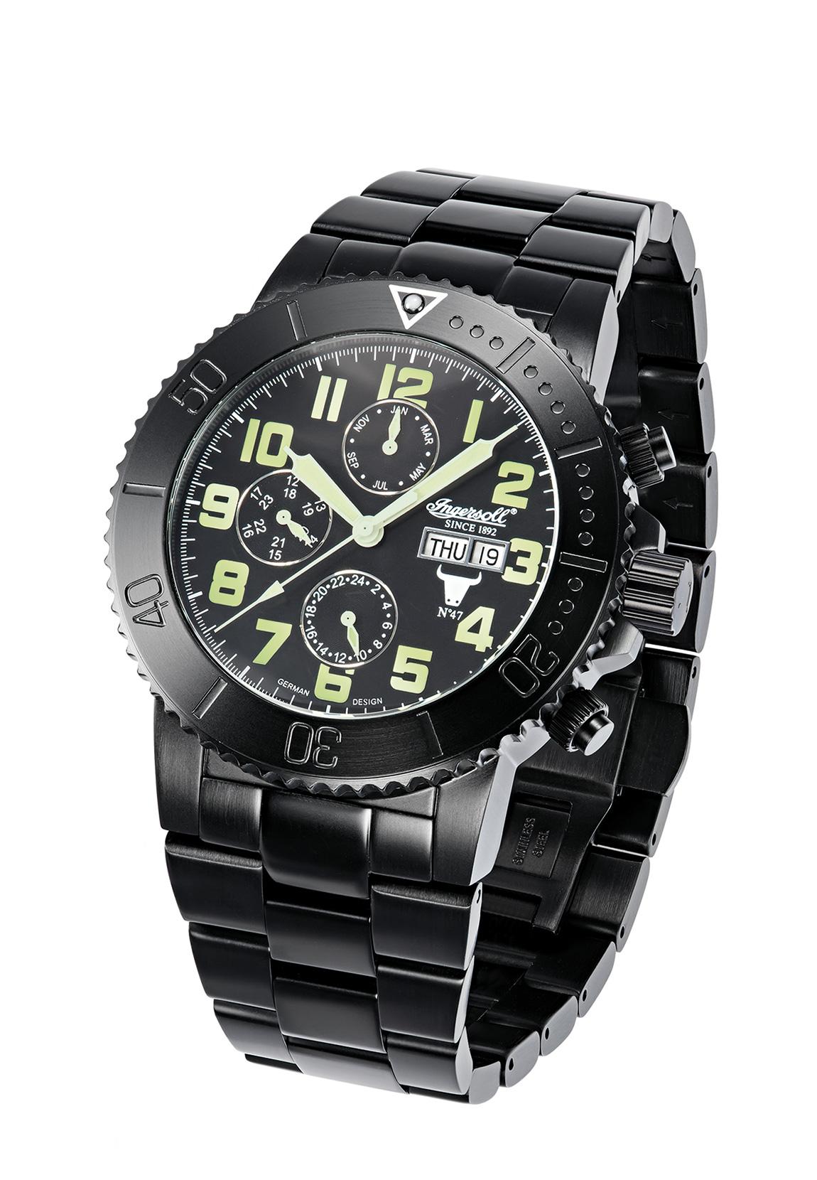 Ingersoll Armbanduhr BISON NO.47 IN1304BKGR