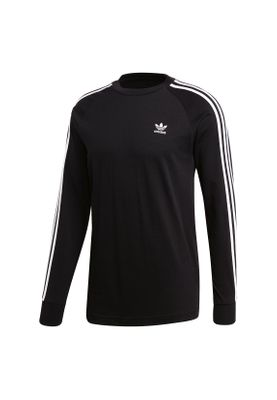 Adidas Originals Longsleeve Herren 3-STRIPES LS T DV1560 Schwarz – Bild 0