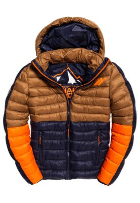 Superdry Jacke Herren NEW COLOUR BLOCK FUJI Tabacco