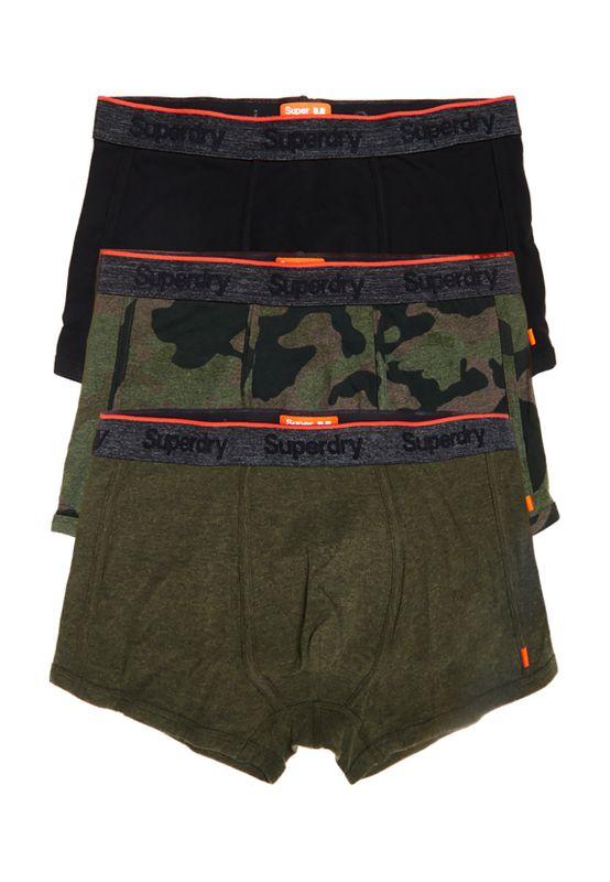 Superdry Boxershorts Dreierpack OL SPORT TRUNK TRIPLE PACK Worn SD Camo Khaki Grit Black – Bild 2