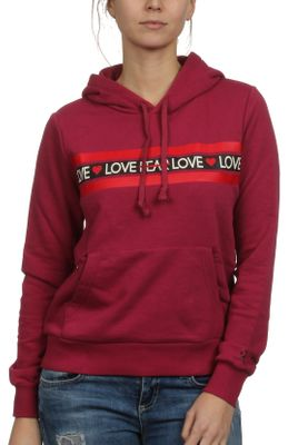 Converse Sweater Damen LOVE THE PROGRESS HOODIE 10017330 Dunkelrot 671 – Bild 0
