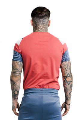 SikSilk Herren T-Shirt RAGLAN SPRINT TEE SS-13777 Rot – Bild 1